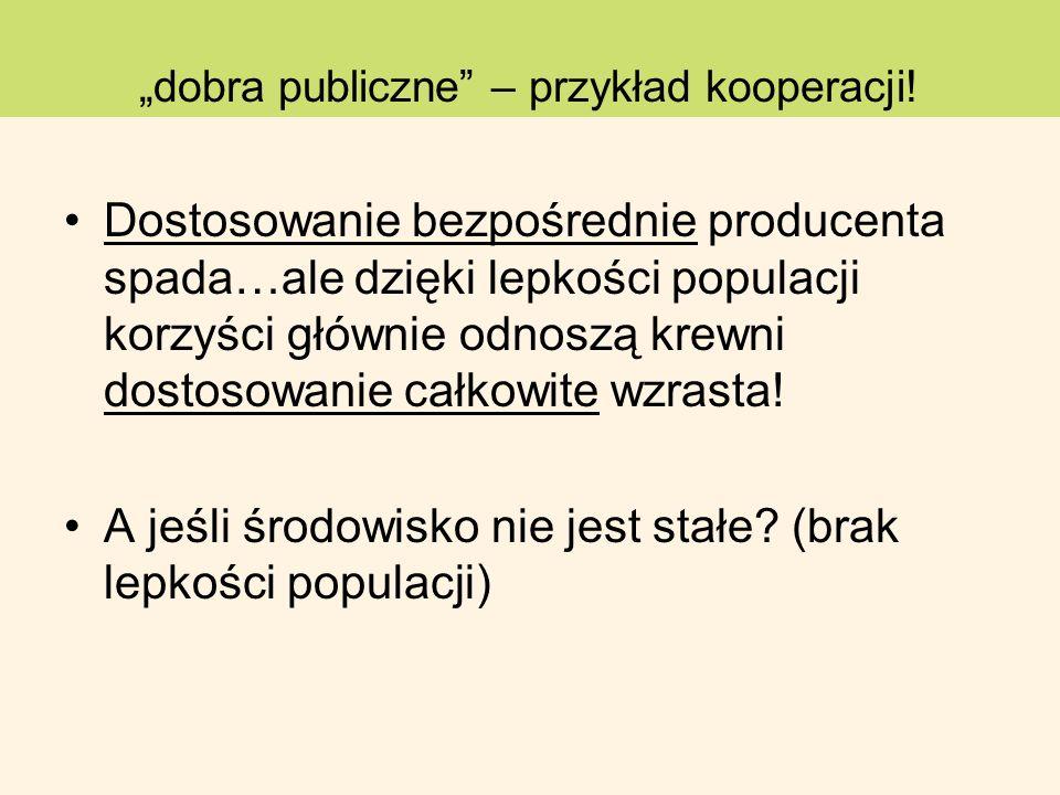 """""""dobra publiczne – przykład kooperacji!"""