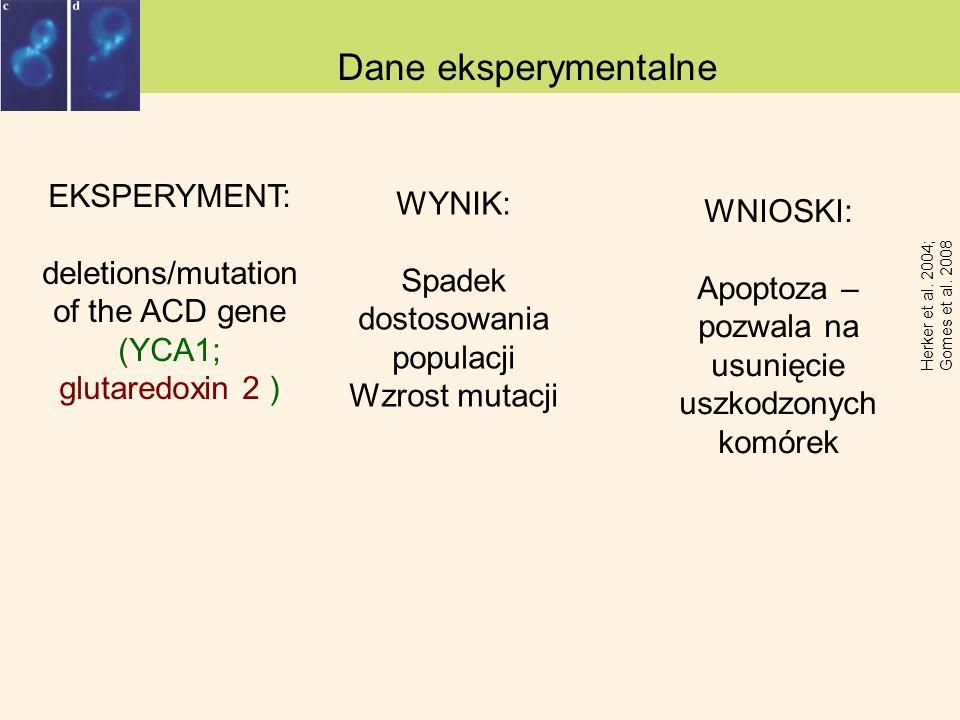 Dane eksperymentalne EKSPERYMENT: WYNIK: WNIOSKI: