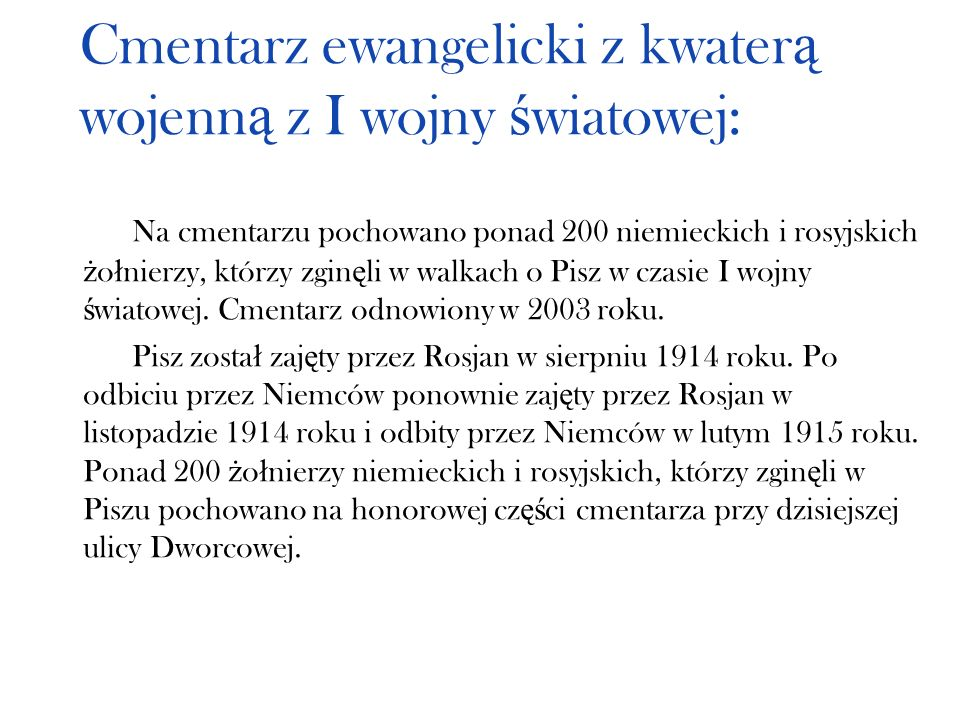 Cmentarz ewangelicki z kwaterą wojenną z I wojny światowej: