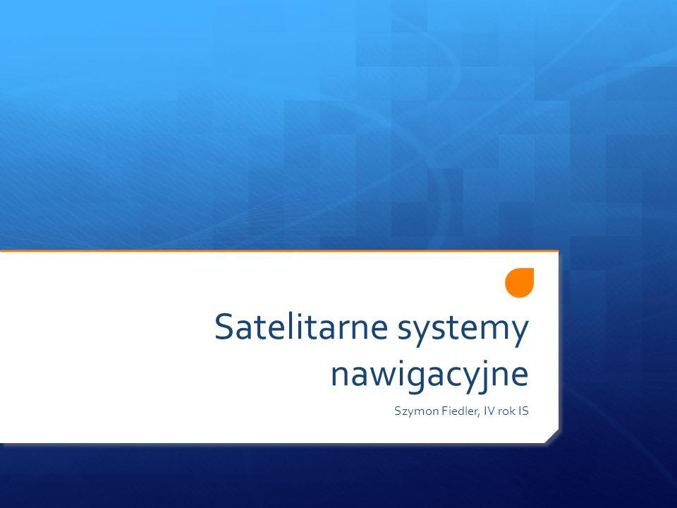Satelitarne systemy nawigacyjne