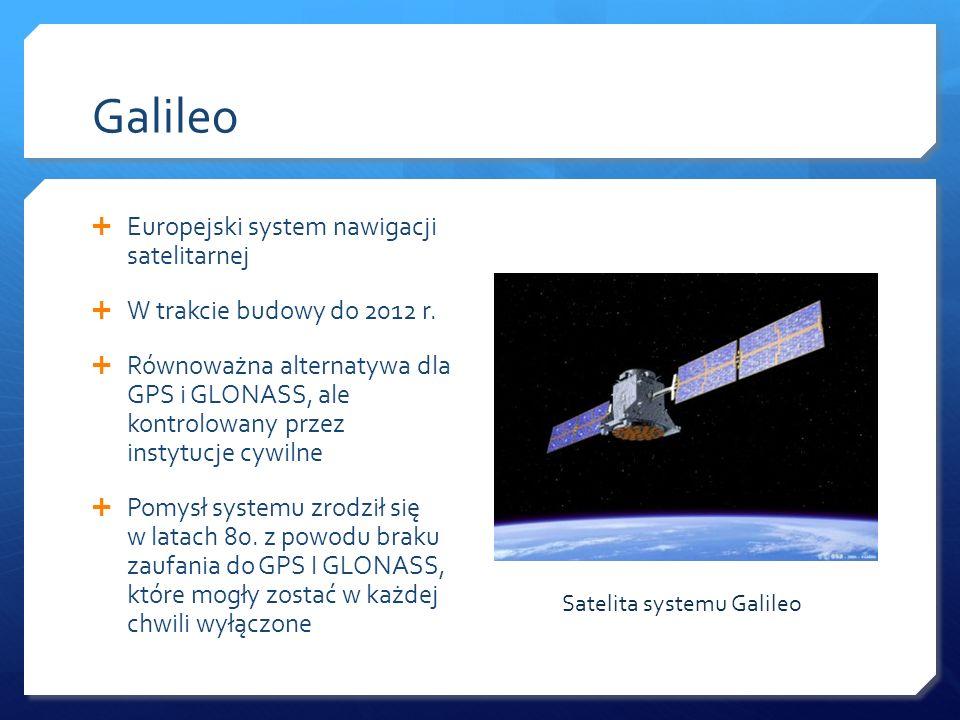 Galileo Europejski system nawigacji satelitarnej
