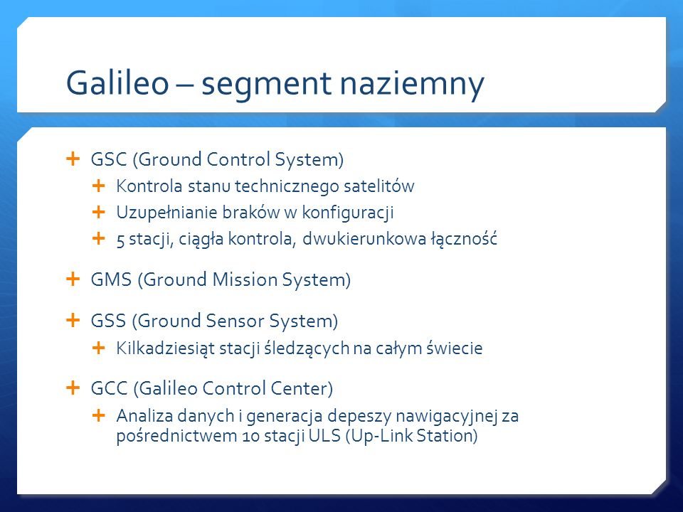 Galileo – segment naziemny
