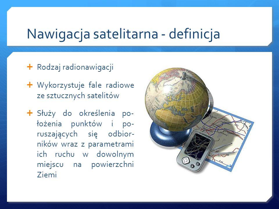 Nawigacja satelitarna - definicja