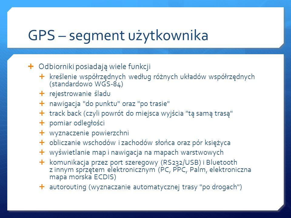 GPS – segment użytkownika