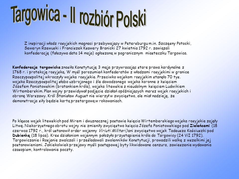 Targowica - II rozbiór Polski