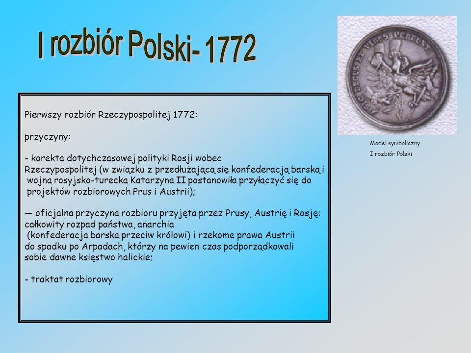 Pierwszy rozbiór Rzeczypospolitej 1772: przyczyny: