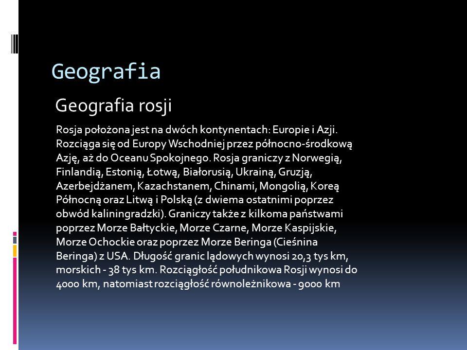 Geografia Geografia rosji