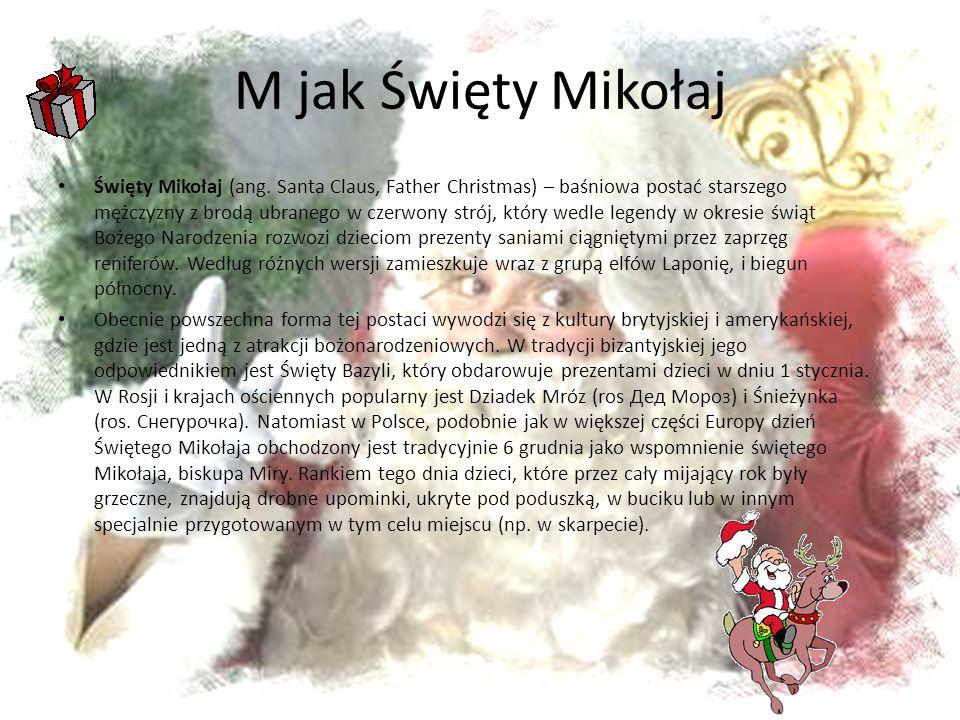 M jak Święty Mikołaj