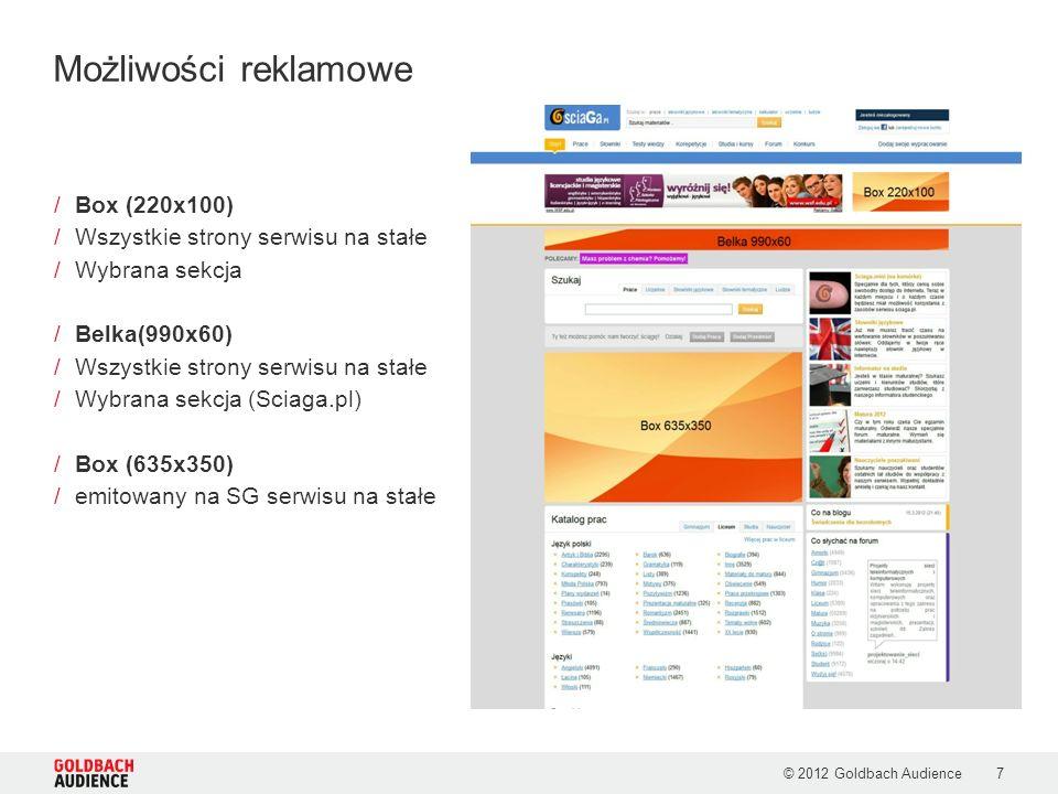 Możliwości reklamowe Box (220x100) Wszystkie strony serwisu na stałe
