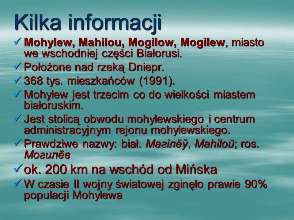 Kilka informacji ok. 200 km na wschód od Mińska