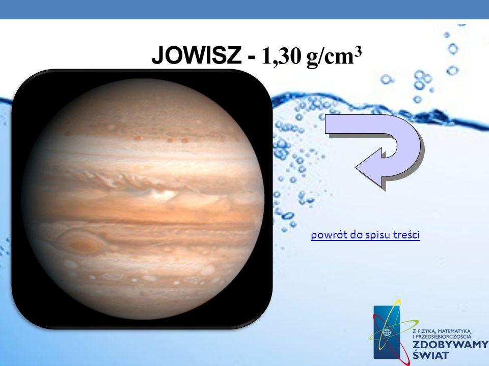 Jowisz - 1,30 g/cm3 powrót do spisu treści