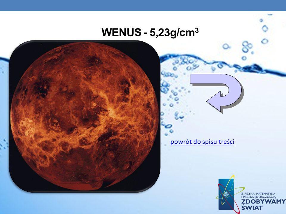 Wenus - 5,23g/cm3 powrót do spisu treści
