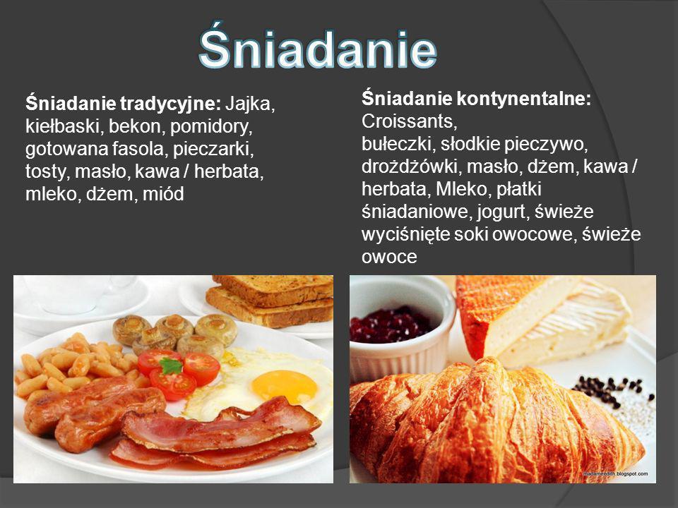 Śniadanie Śniadanie kontynentalne: Croissants,
