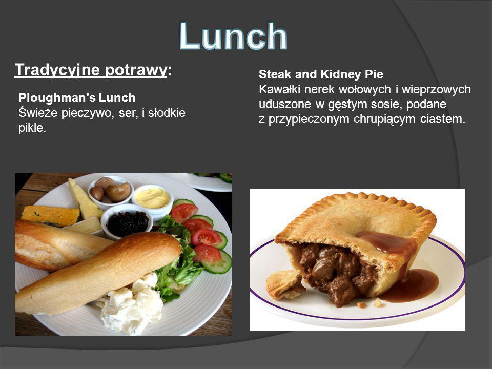 Lunch Tradycyjne potrawy: Steak and Kidney Pie