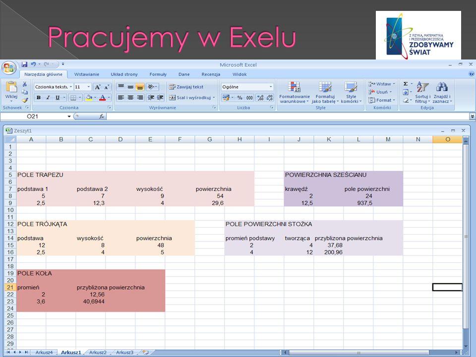 Pracujemy w Exelu