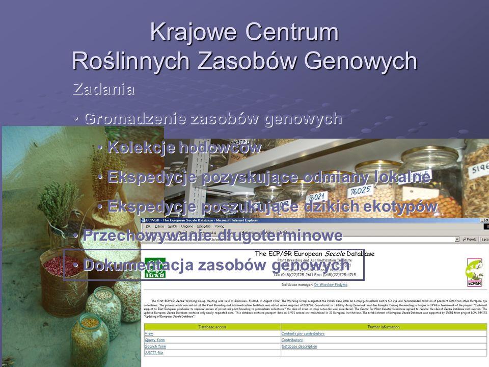 Krajowe Centrum Roślinnych Zasobów Genowych