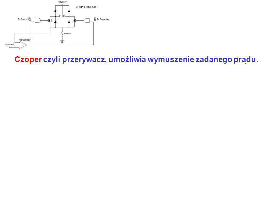 Czoper czyli przerywacz, umożliwia wymuszenie zadanego prądu.