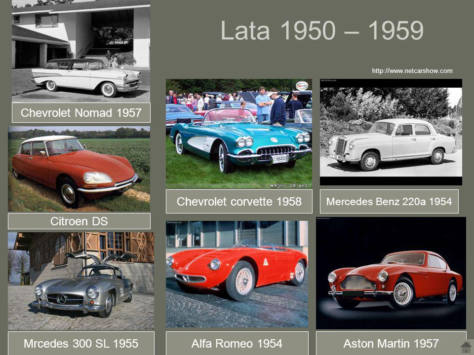 Lata 1950 – 1959 Chevrolet Nomad 1957 Chevrolet corvette 1958