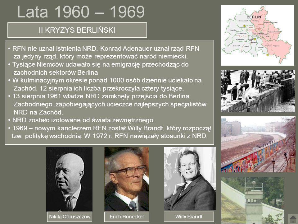 Lata 1960 – 1969 II KRYZYS BERLIŃSKI