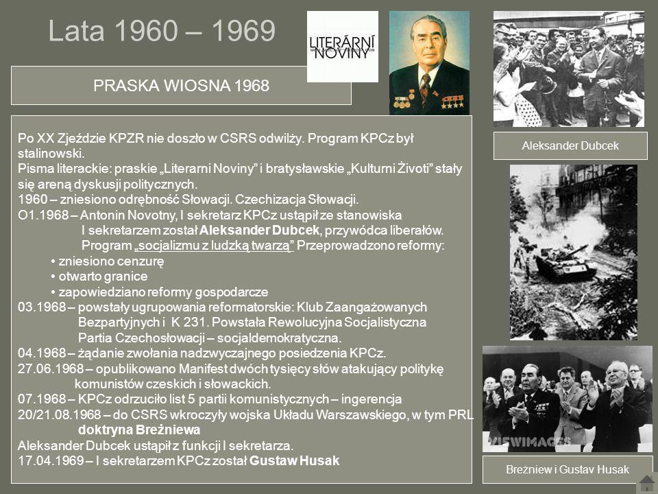 Breżniew i Gustav Husak