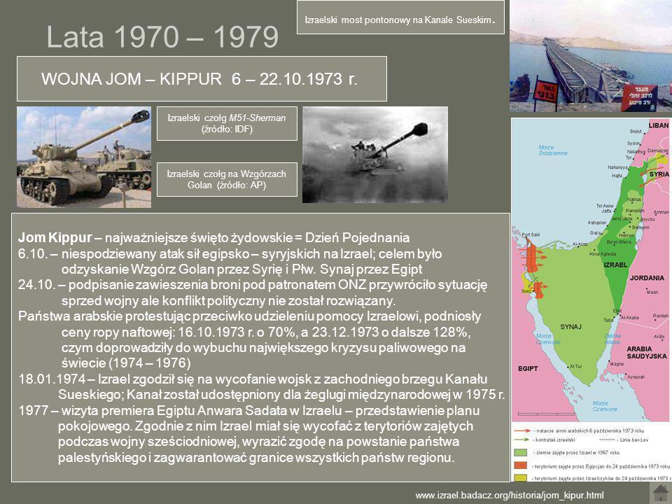 Lata 1970 – 1979 WOJNA JOM – KIPPUR 6 – 22.10.1973 r.