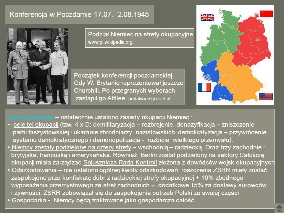 Konferencja w Poczdamie 17.07.- 2.08.1945