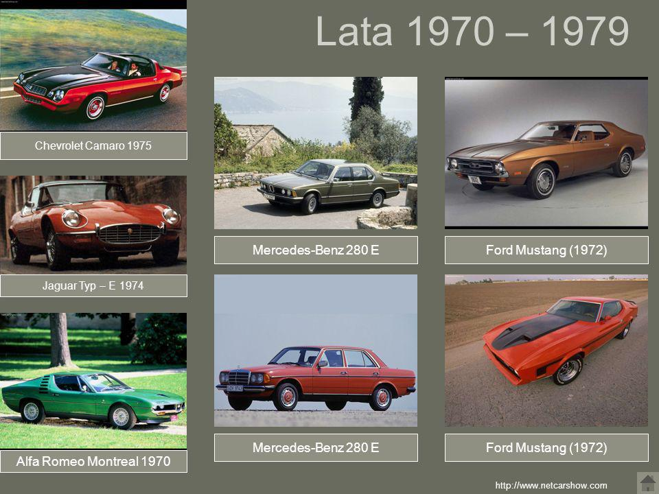 Lata 1970 – 1979 Mercedes-Benz 280 E Ford Mustang (1972)