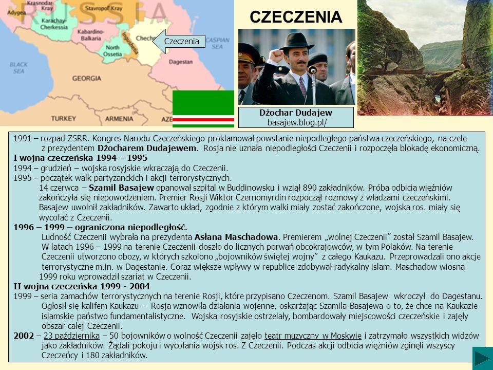 CZECZENIA Czeczenia Dżochar Dudajew basajew.blog.pl/