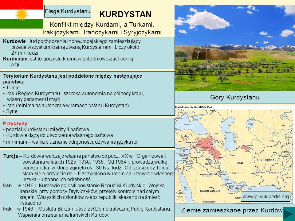 Ziemie zamieszkane przez Kurdów