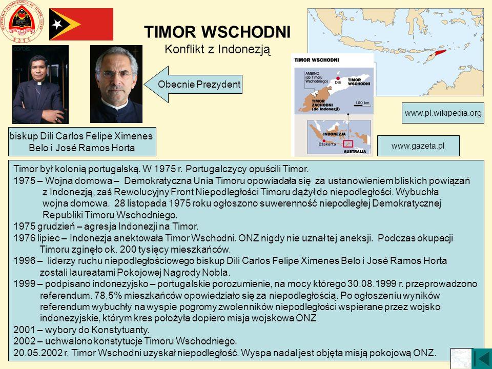 TIMOR WSCHODNI Konflikt z Indonezją
