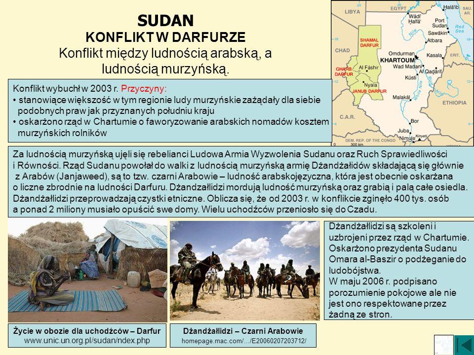Życie w obozie dla uchodźców – Darfur Dżandżałlidzi – Czarni Arabowie