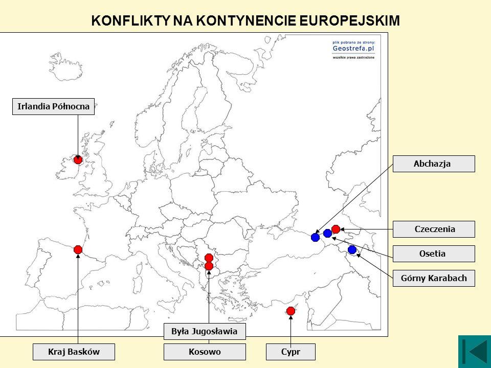 KONFLIKTY NA KONTYNENCIE EUROPEJSKIM