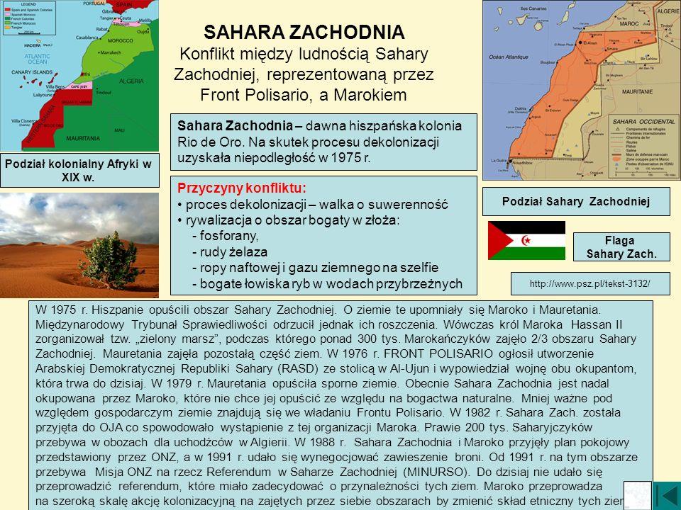 Podział kolonialny Afryki w Podział Sahary Zachodniej