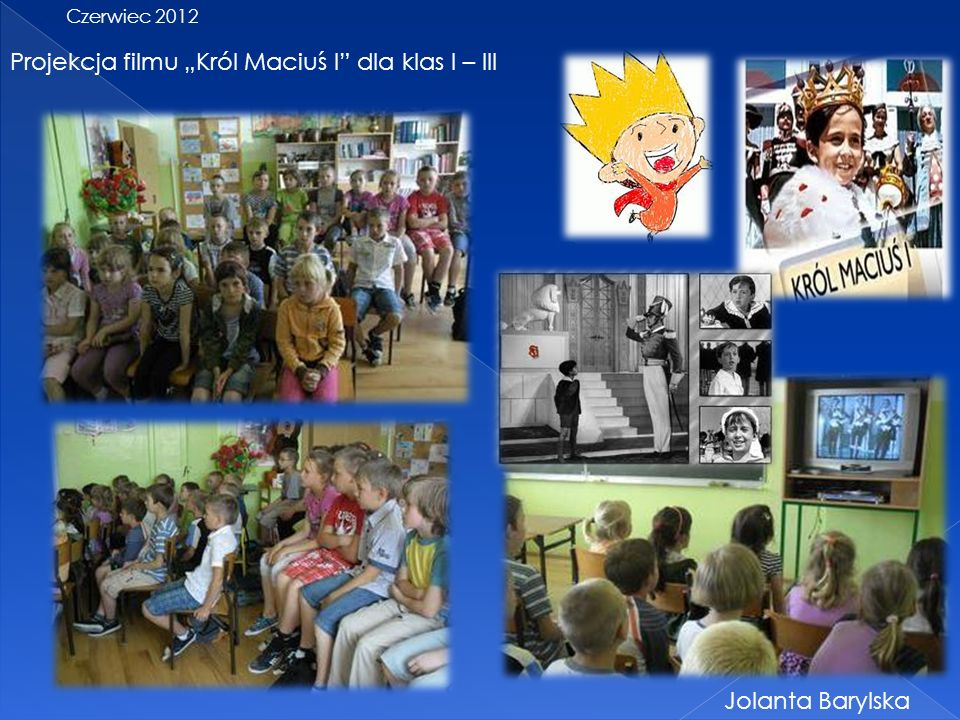 "Projekcja filmu ""Król Maciuś I dla klas I – III"