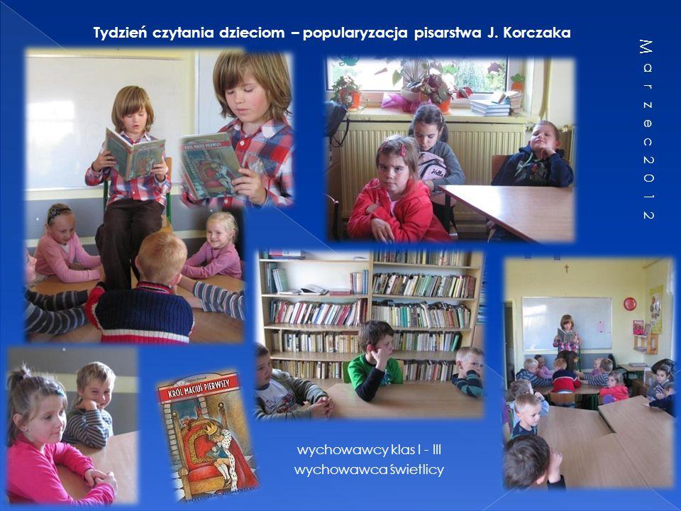 Tydzień czytania dzieciom – popularyzacja pisarstwa J. Korczaka