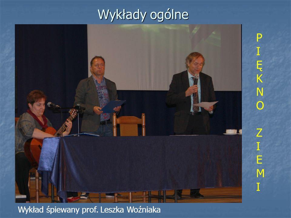 Wykłady ogólne P I Ę K N O Z E M Wykład śpiewany prof. Leszka Woźniaka