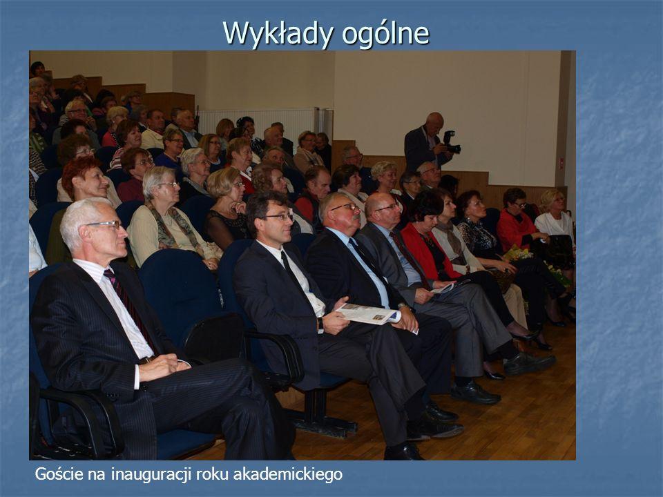 Wykłady ogólne Goście na inauguracji roku akademickiego