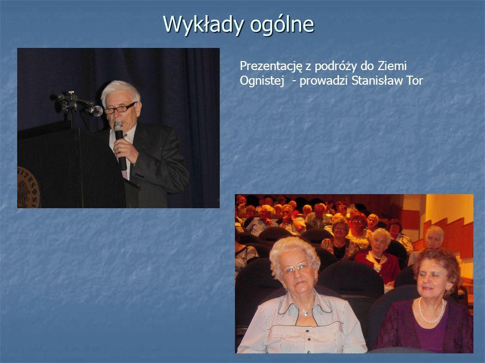 Wykłady ogólne Prezentację z podróży do Ziemi Ognistej - prowadzi Stanisław Tor