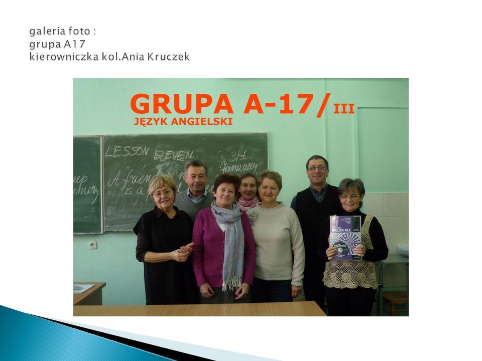 galeria foto : grupa A17 kierowniczka kol.Ania Kruczek