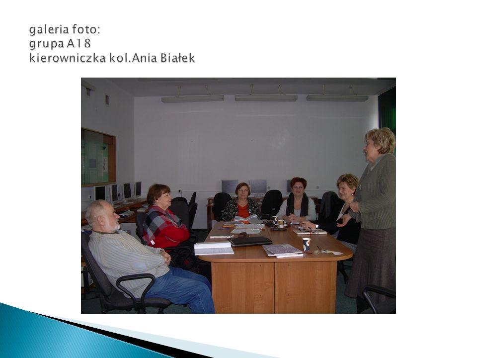 galeria foto: grupa A18 kierowniczka kol.Ania Białek