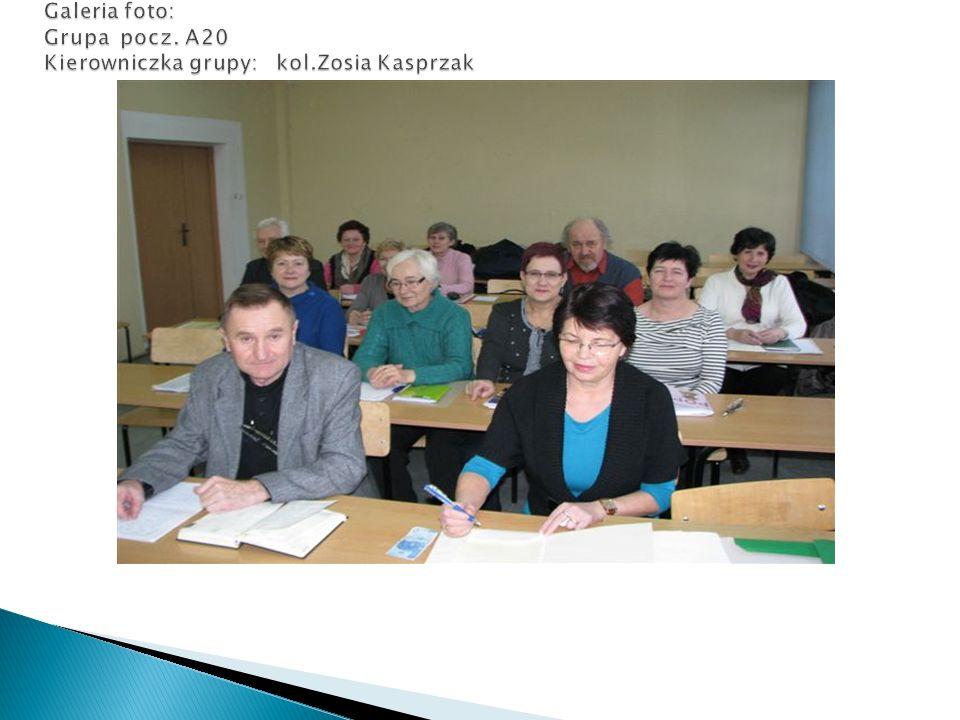 Galeria foto: Grupa pocz. A20 Kierowniczka grupy: kol.Zosia Kasprzak