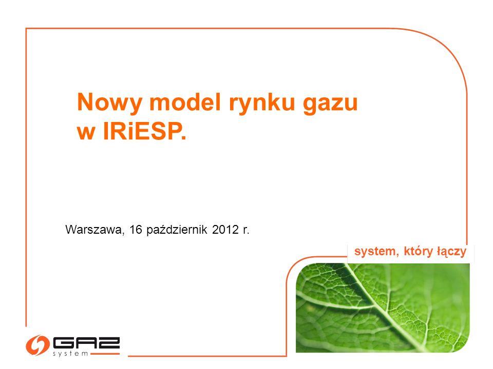 Nowy model rynku gazu w IRiESP.