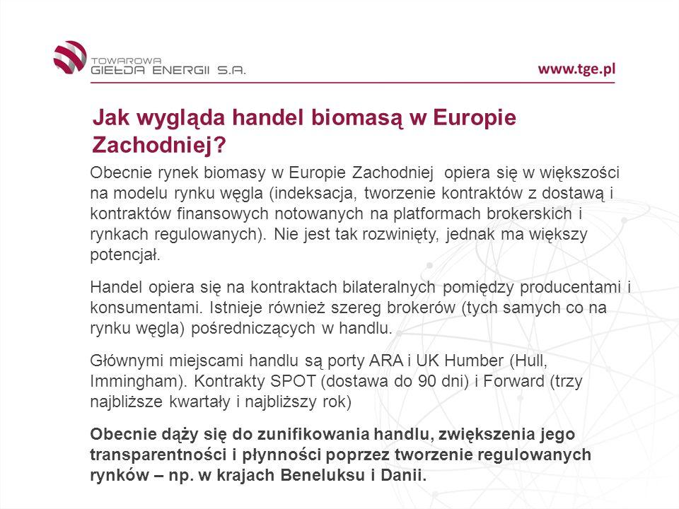 Jak wygląda handel biomasą w Europie Zachodniej