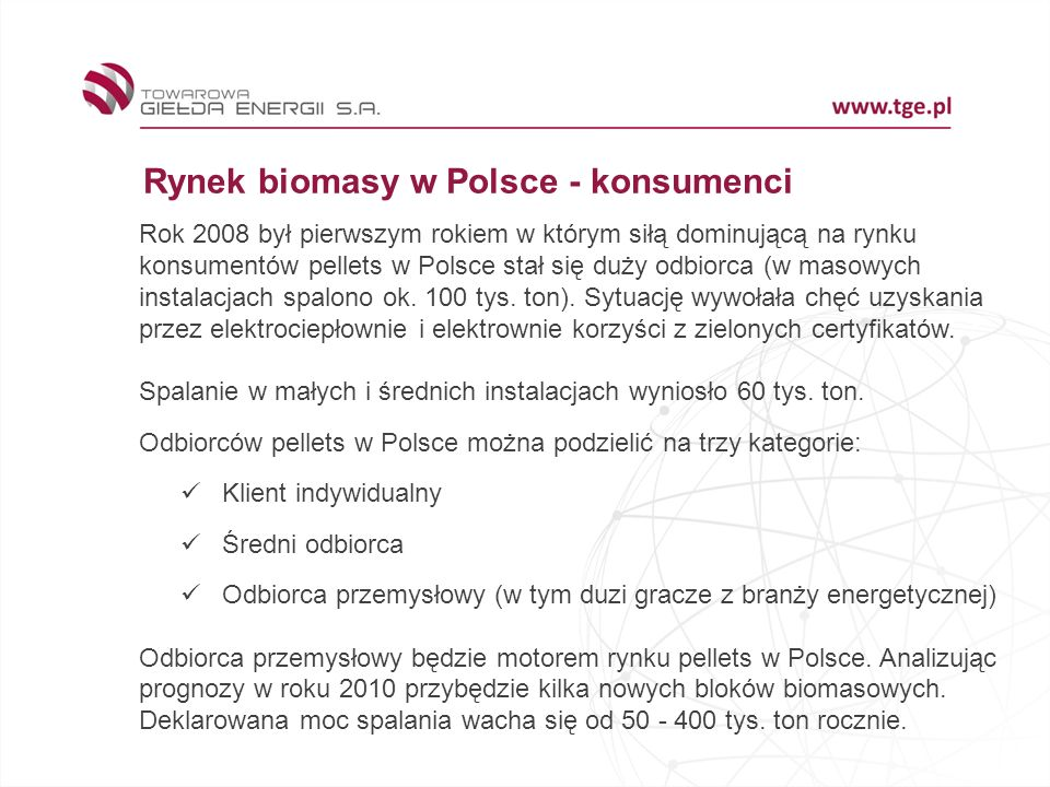 Rynek biomasy w Polsce - konsumenci