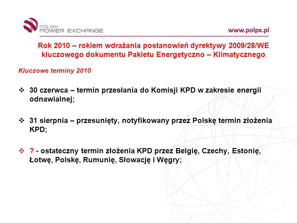 Rok 2010 – rokiem wdrażania postanowień dyrektywy 2009/28/WE kluczowego dokumentu Pakietu Energetyczno – Klimatycznego