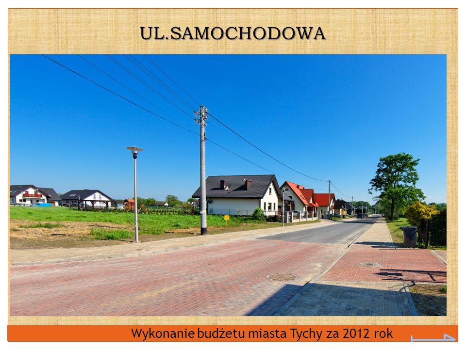 UL.SAMOCHODOWA Wykonanie budżetu miasta Tychy za 2012 rok