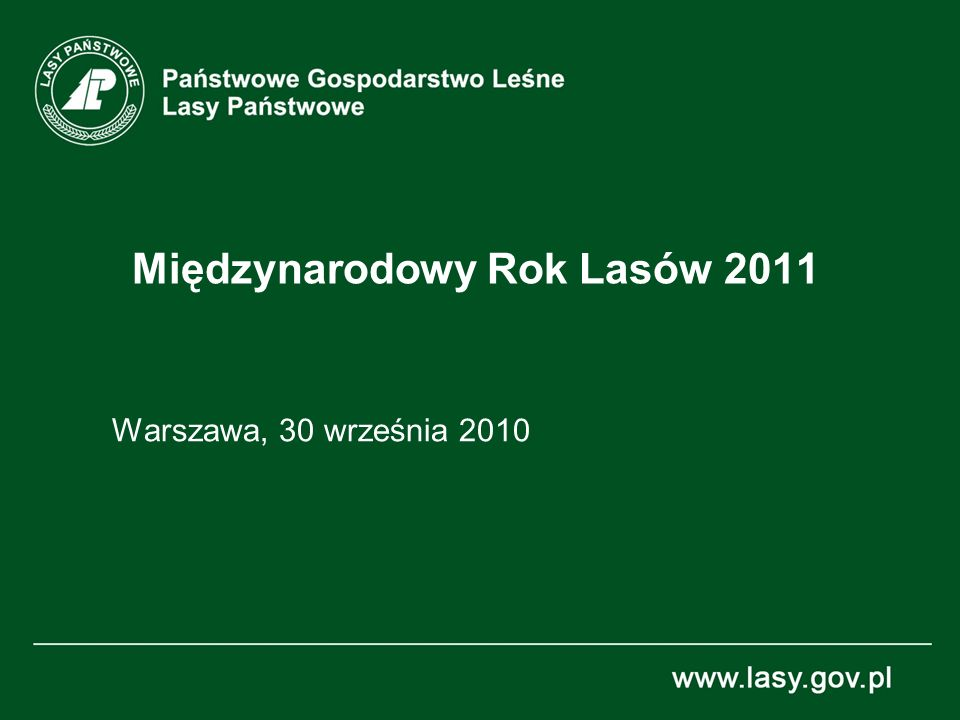 Międzynarodowy Rok Lasów 2011