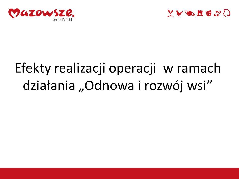"""Efekty realizacji operacji w ramach działania """"Odnowa i rozwój wsi"""