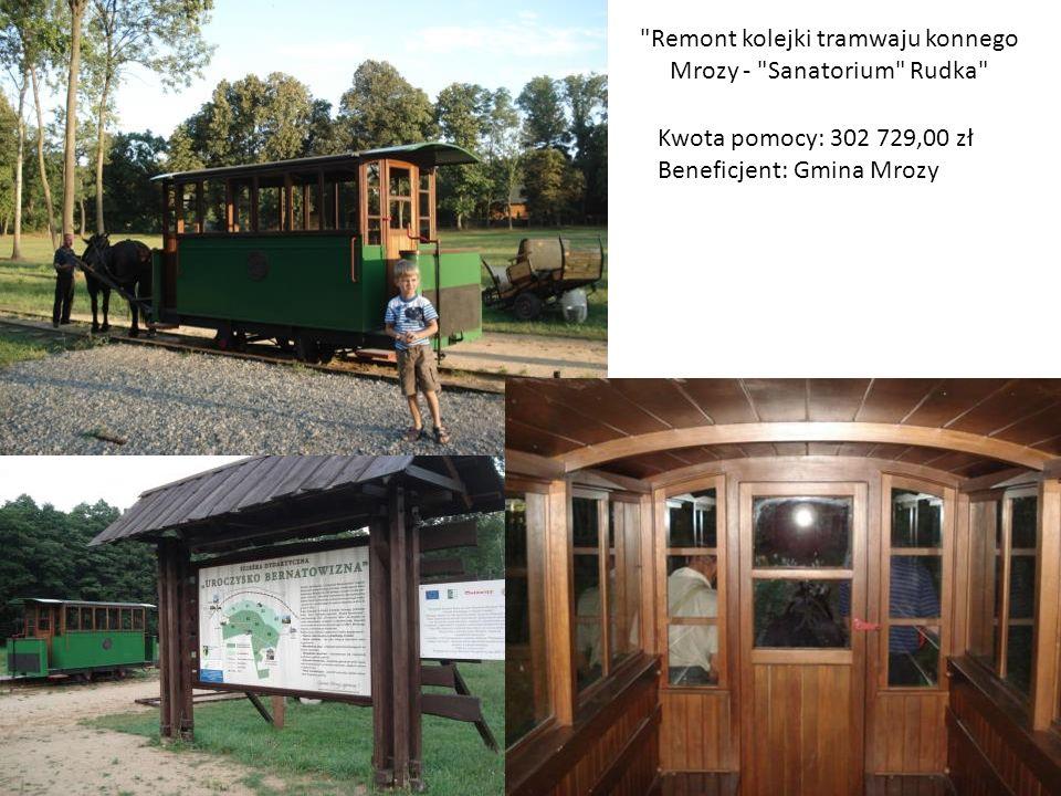 Remont kolejki tramwaju konnego Mrozy - Sanatorium Rudka