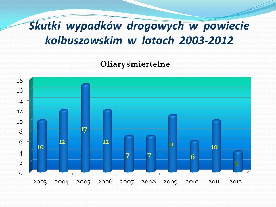 Skutki wypadków drogowych w powiecie kolbuszowskim w latach 2003-2012